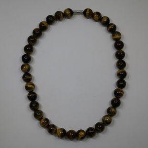 Genuine Tigers Eye Strand Necklace